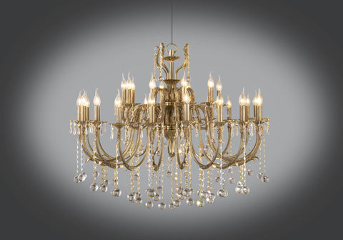 Gold plated chandelier 30 bulb 2 levels floba home goods gold plated chandelier 30 bulb 2 levels aloadofball Image collections
