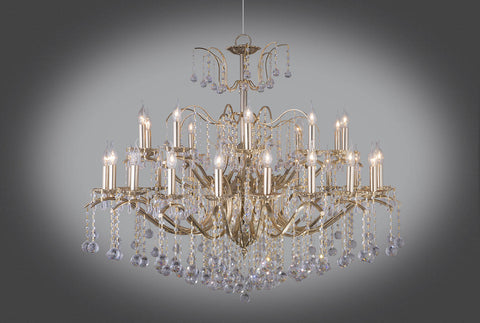 Gold plated chandeliers floba home goods gold plated chandelier 30 bulb decorated arms aloadofball Choice Image