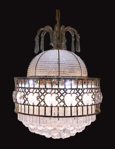 Crystal chandeliers floba home goods circular crystal chandelier aloadofball Image collections
