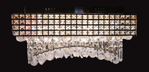 Rectangular crystal chandelier floba home goods rectangular crystal chandelier mozeypictures Images