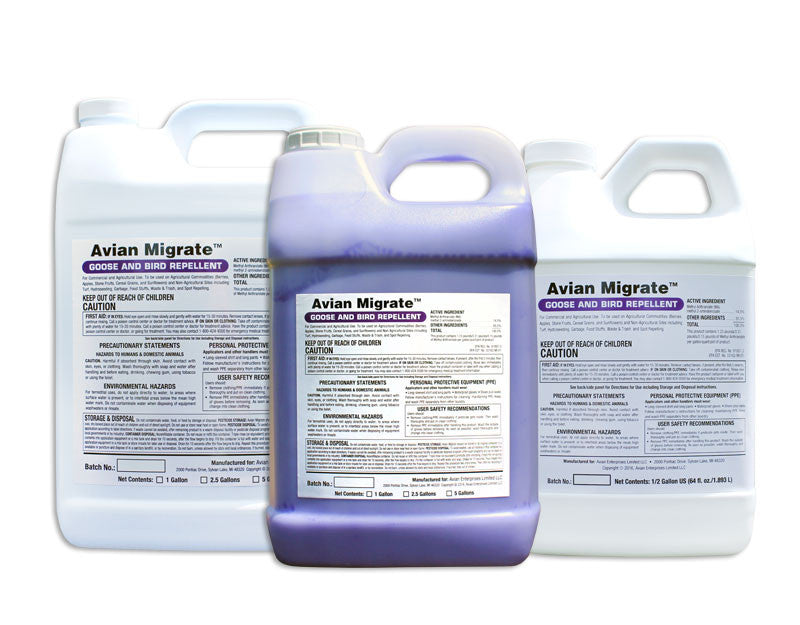 Avian Migrate | Goose and Bird Repellent | Commercial or