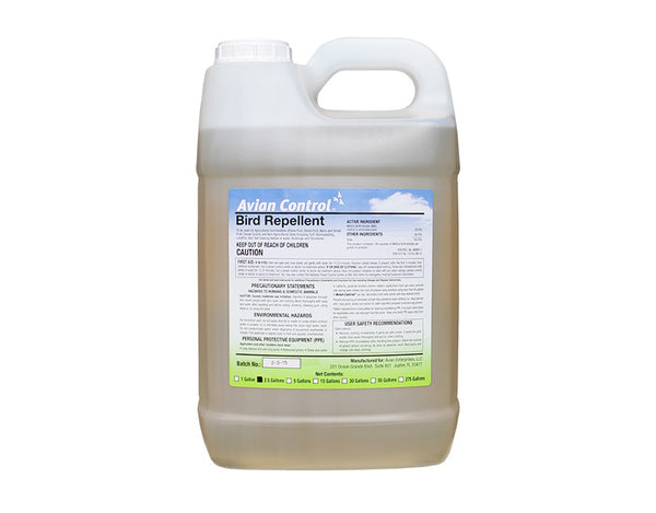 Avian Control Bird Repellent - 2.5 Gallons