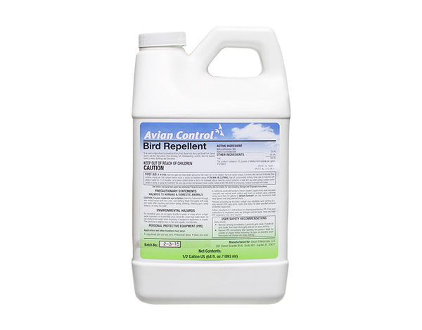 Avian Control Bird Repellent - 1/2 Gallon
