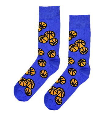 Basket Ball Novelty Socks