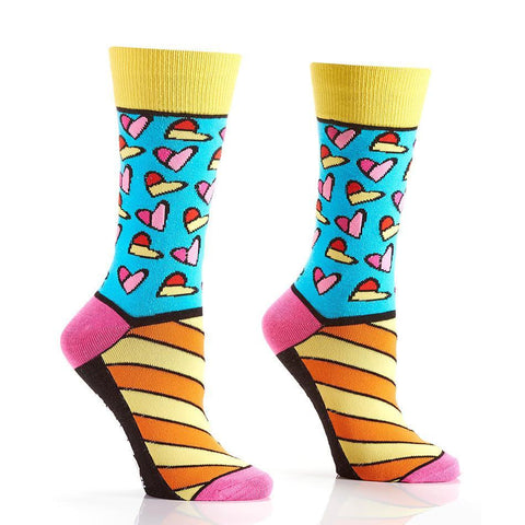 Art of the Heart: Women's Novelty Crew Socks | Romero Britto Collection