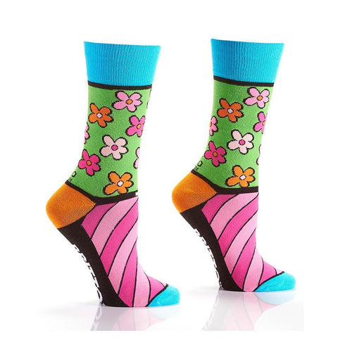 Flower Power: Women's Novelty Crew Socks | Romero Britto Collection