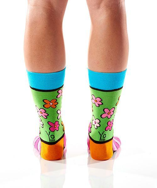 Flower Power: Women's Crew Socks | Romero Britto Collection