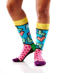 Spotted Hearts: Women's Novelty Crew Socks | Romero Britto Collection