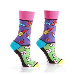 Date Night: Women's Novelty Crew Socks | Romero Britto Collection
