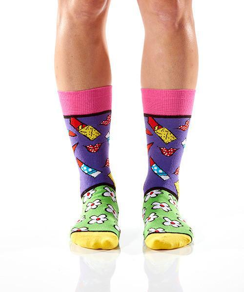 Date Night: Women's Crew Socks | Romero Britto Collection