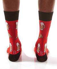 Pizza & Beer: Men's Novelty Crew Socks
