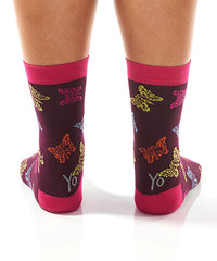Social Butterfly: Women's Crew Socks