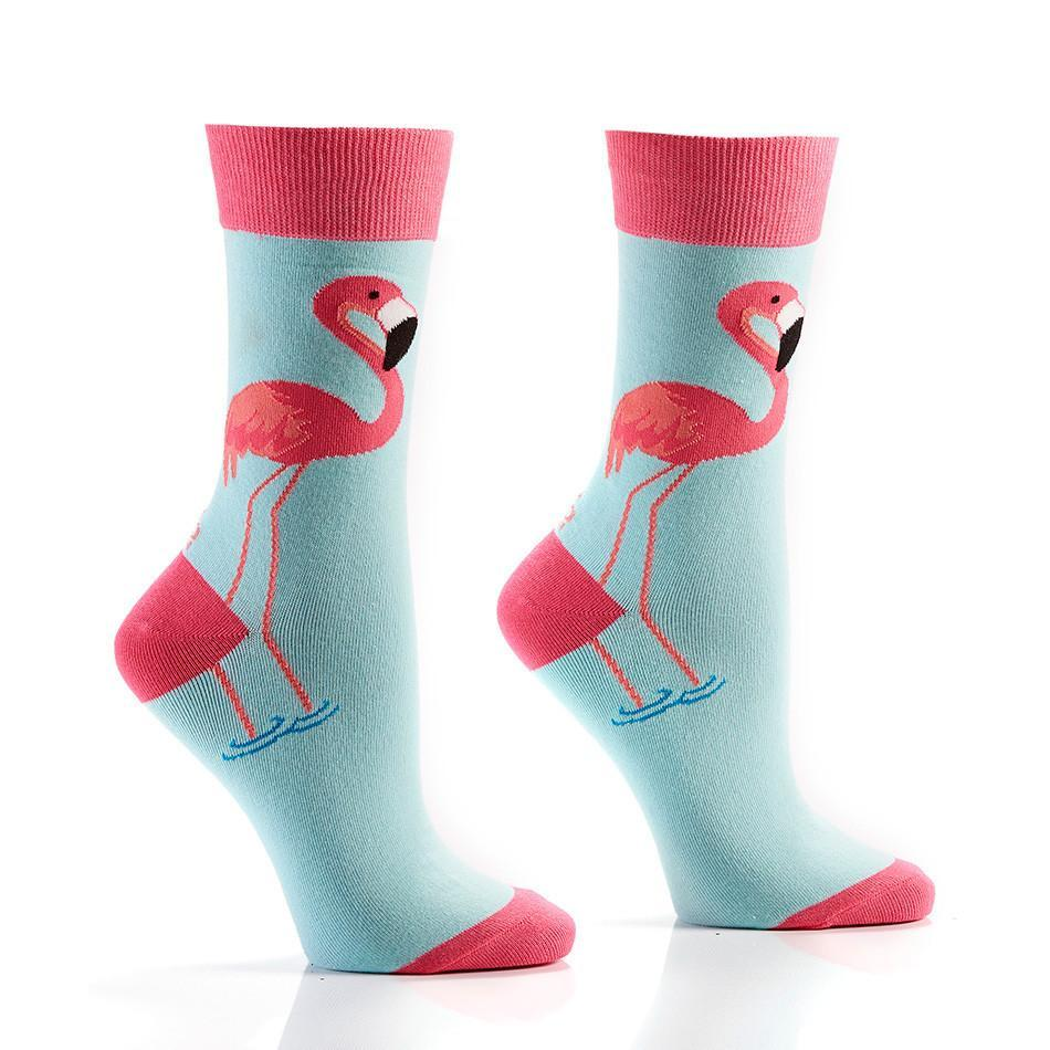 Fabulous Flamingos: Women's Novelty Crew Socks