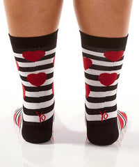 Struck By Cupid: Women's Novelty Crew Socks