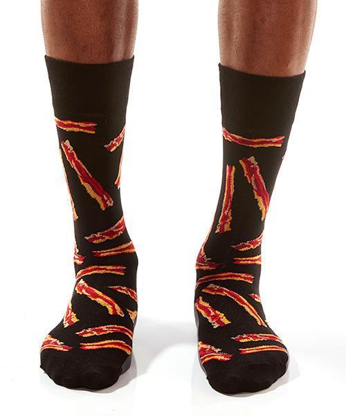Bacon Strips Men's Crew Socks