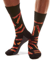 Bacon Strips: Men's Crew Socks