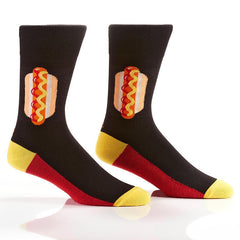 Hot Doggity Dog: Men's Novelty Crew Socks