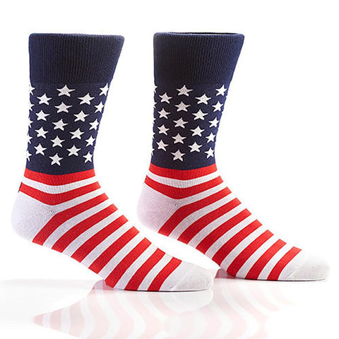 Star Spangled Banner: Men's Novelty Crew Socks