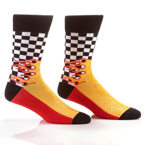 Checkpoint: Men's Novelty Crew Socks