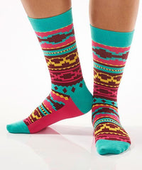 Aztec Art: Women's Novelty Crew Socks