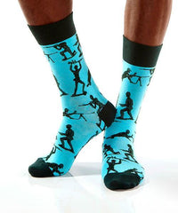 Sir, Yes Sir: Men's Novelty Crew Socks