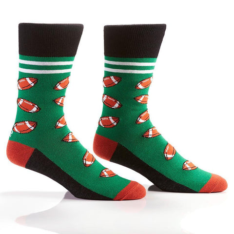 Touchdown: Men's Novelty Crew Socks