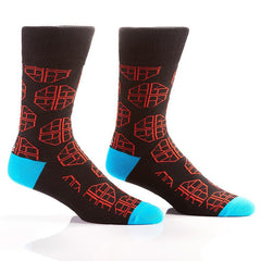 Superman: Men's Crew Socks | Pillar Collection Novelty