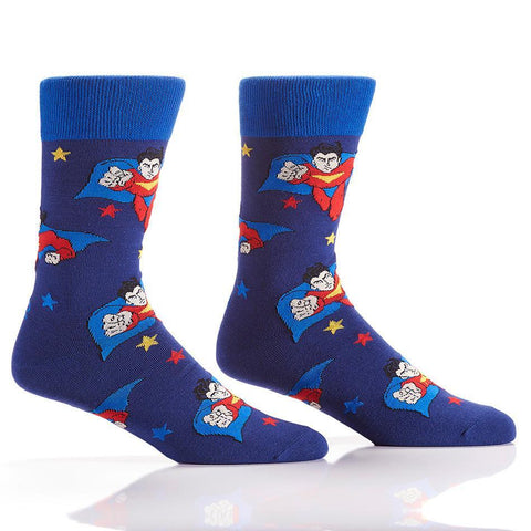 Superhero: Men's Novelty Crew Socks