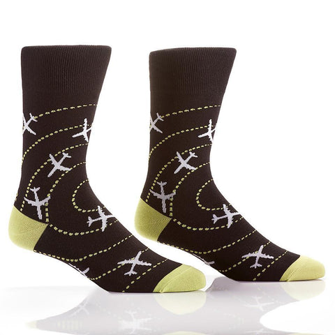 Perfect Landing: Men's Novelty Crew Socks