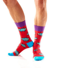 Knock Em Sock Em: Men's Novelty Crew Socks