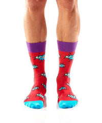 Knock Em Sock Em: Men's Crew Socks
