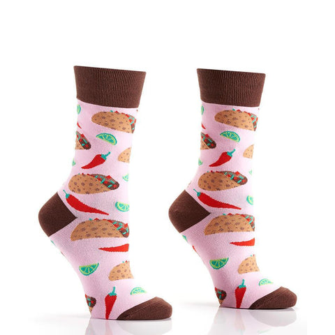 Taco Tuesday Lady: Women's Novelty Crew Socks