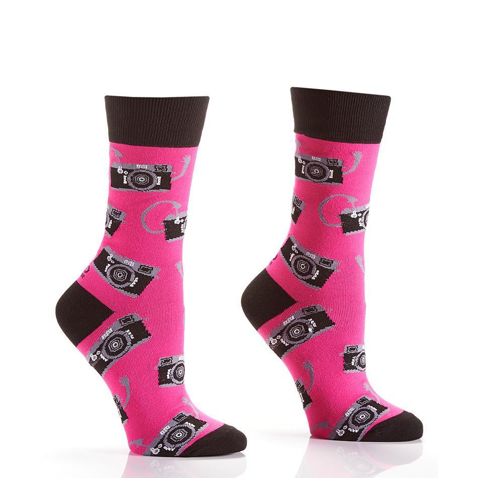 Say Cheese: Women's Novelty Crew Socks