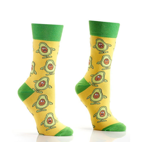 Avocuddle: Women's Novelty Crew Socks
