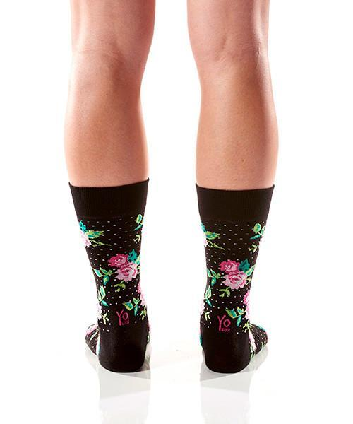 Smell the Roses: Women's Crew Socks