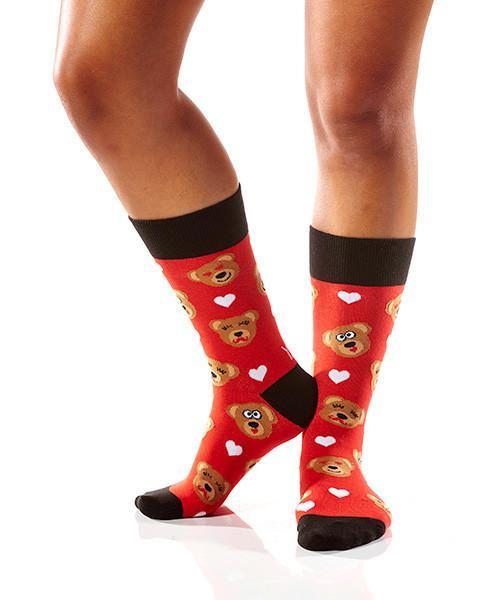 Cuddle Bear: Women's Novelty Crew Socks