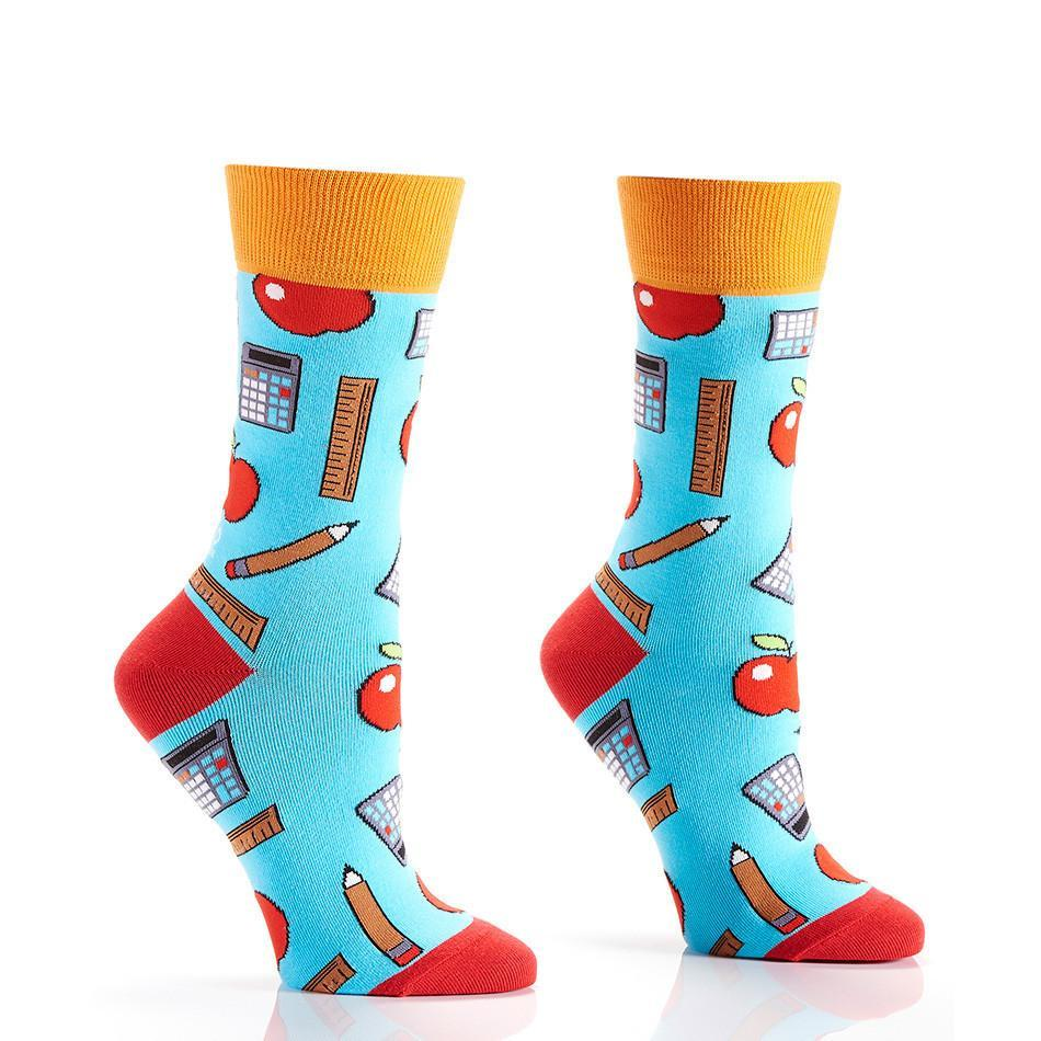 Back To School: Women's Novelty Crew Socks
