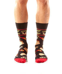 Extra Hot: Men's Novelty Crew Socks