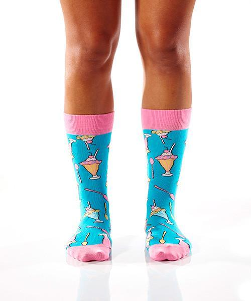 Sundae Funday Women's Crew Socks , Socks - Yo Sox, USA Yo Sox - 2