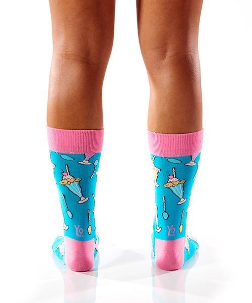 Sundae Funday Women's Crew Socks , Socks - Yo Sox, USA Yo Sox - 4