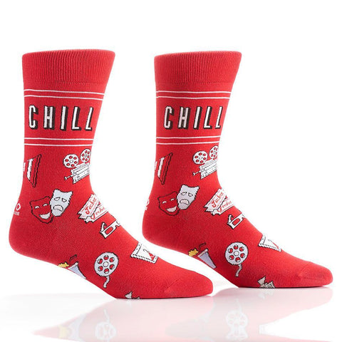 Yo Sox & Chill: Men's Novelty Crew Socks