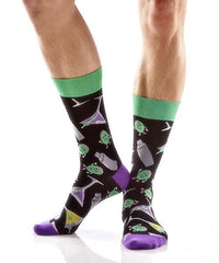 Shaken or Stirred Men's Crew Socks , Socks - Yo Sox, Canada Yo Sox  - 3