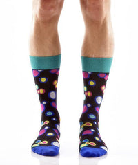 Dancing Dots Men's Crew Socks , Socks - Yo Sox, Canada Yo Sox   - 2