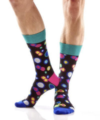 Dancing Dots Men's Crew Socks , Socks - Yo Sox, Canada Yo Sox   - 3