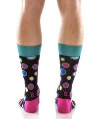 Dancing Dots Men's Crew Socks , Socks - Yo Sox, Canada Yo Sox  - 4
