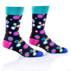 Dancing Dots: Men's Novelty Crew Socks