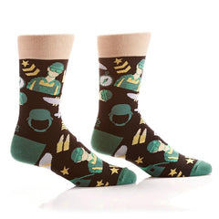 On Guard: Men's Novelty Crew Socks