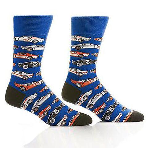 Hot Wheels Men's Novelty Crew Socks