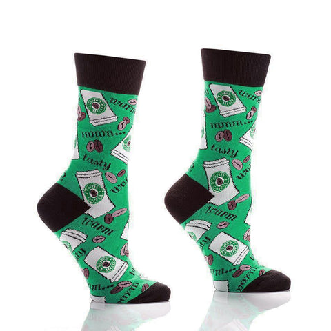 Coffee Break Ladies: Women's Novelty Crew Socks