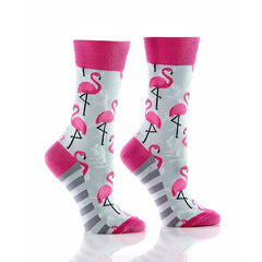 Flamingo Friends: Women's Novelty Crew Socks